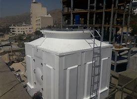 نمونه ای از قطعات برج خنک کننده / برج خنک کن